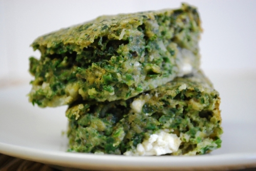 Spinach and Feta Squares