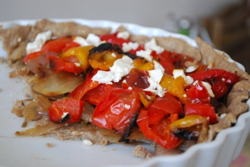 Roasted Red Pepper Tart blog8